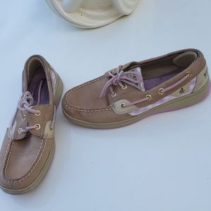 Sperry top sider pink sequin boat shoes sz 6.5